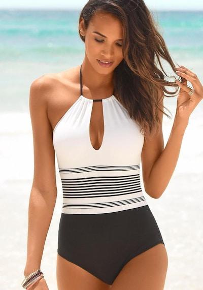 JETTE Badpak in de kleur Zwart / Wit, Modelweergave