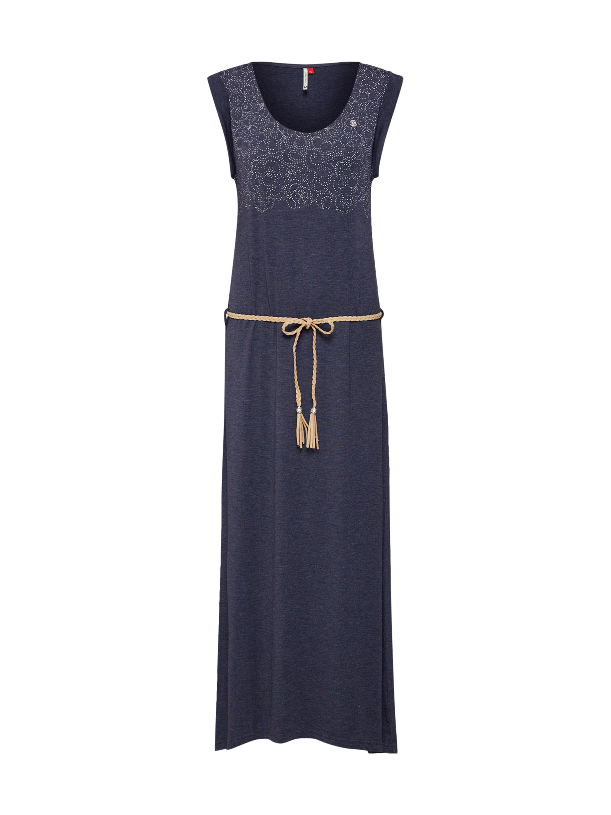 Long Kleid UltramarinblauWeiß B' 'tag In Ragwear cTlFJK1
