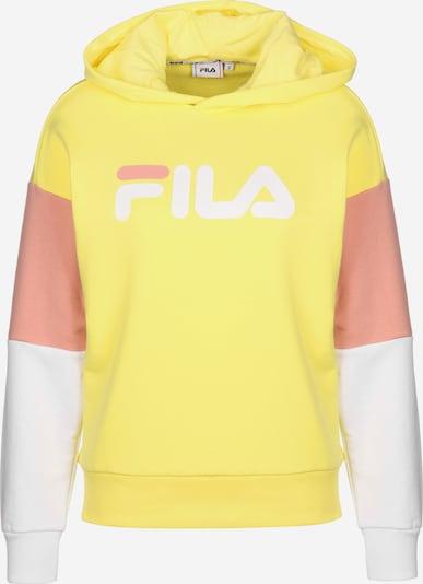 FILA Hoodie ' Barret Cropped ' in gelb / pfirsich / weiß, Produktansicht