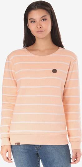 Lakeville Mountain Sweatshirt 'Cuanda Striped' in pfirsich, Produktansicht