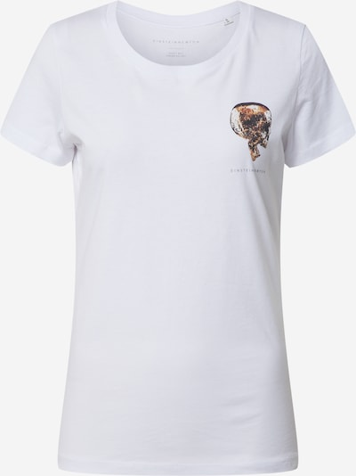EINSTEIN & NEWTON Shirt 'Goldskull Chest T-Shirt' in de kleur Goud / Wit, Productweergave