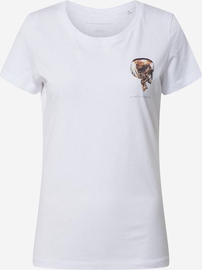 EINSTEIN & NEWTON Shirt 'Goldskull Chest T-Shirt' in gold / weiß, Produktansicht