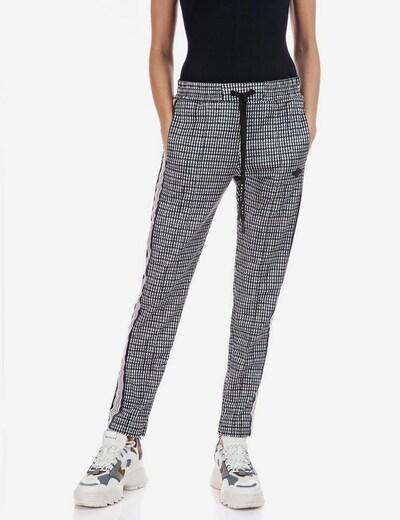 REPLAY Hose in grau / schwarz / weiß, Modelansicht