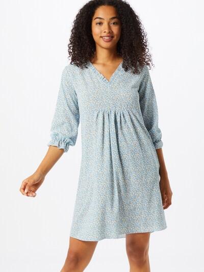 Sublevel Kleid in hellblau / hellbraun / weiß, Modelansicht
