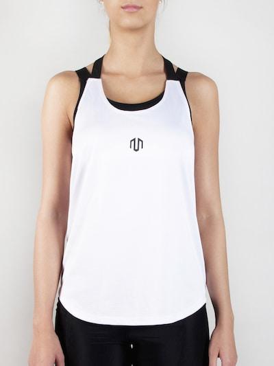 MOROTAI Sport-Top 'Performance Stringer' in schwarz / weiß, Produktansicht