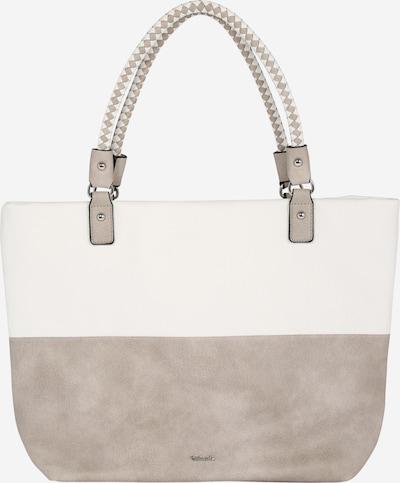TAMARIS Nákupní taška 'Annelie' - tmavě béžová / bílá, Produkt