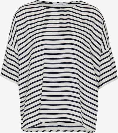 Samsoe Samsoe T-shirt en bleu marine / blanc, Vue avec produit
