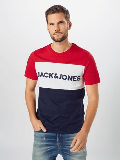 JACK & JONES Koszulka w kolorze atramentowy / grenadynowy / białym: Widok z przodu