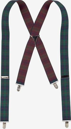 J. Jayz Hosenträger in dunkelblau / dunkelgrün / rot, Produktansicht