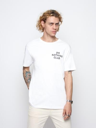 On Vacation Shirt in de kleur Zwart / Wit: Vooraanzicht