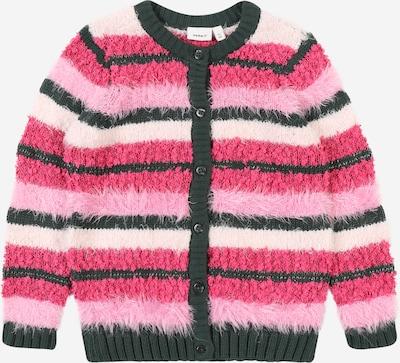 NAME IT Strickjacke 'NASINI' in grün / mischfarben / pink / rosa, Produktansicht