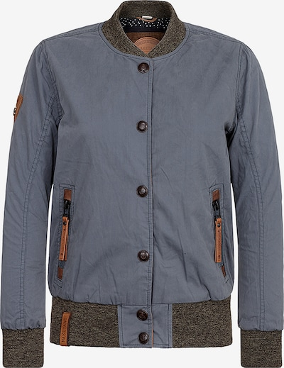 naketano Jacke 'U like dirty' in taubenblau / braun / graumeliert, Produktansicht