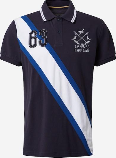 CAMP DAVID Poloshirt in marine / weiß, Produktansicht