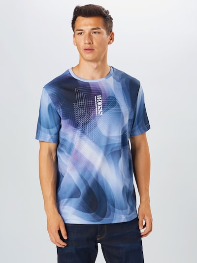 kék BOSS ATHLEISURE Póló 'Tee 8': Elölnézet