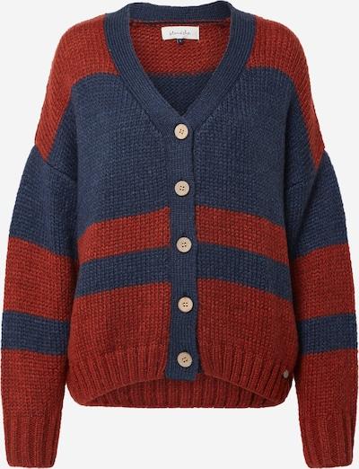 Blend She Pullover in dunkelblau / burgunder, Produktansicht