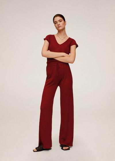 MANGO Hose linen in rot, Modelansicht