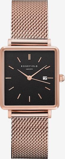 ROSEFIELD Uhr in rosegold / schwarz, Produktansicht