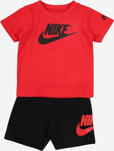 Nike Sportswear Set 'Futura' in rot / schwarz, Produktansicht