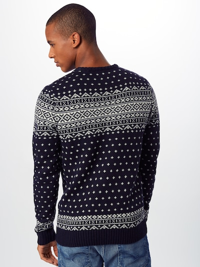 BLEND Džemperis pieejami kamuflāžas / balts: Aizmugures skats