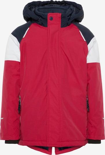 NAME IT Jacke 'Snow3' in feuerrot / schwarz / weiß, Produktansicht