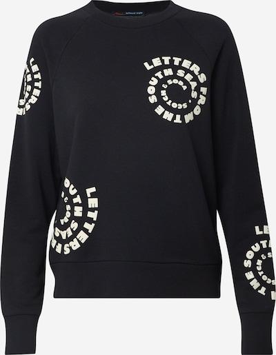 SCOTCH & SODA Sweat-shirt en noir / blanc: Vue de face