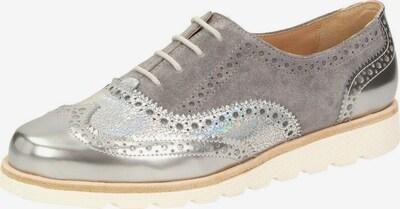 SIOUX Schnürschuhe in grau / silber, Produktansicht