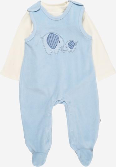 JACKY Strampler-Set in hellblau / weiß, Produktansicht