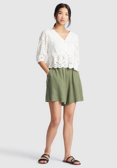 khujo Shirt ' GALILEA ' in weiß, Modelansicht