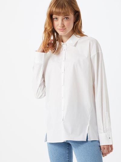 HUGO Hemdbluse 'Eluann' in weiß, Modelansicht