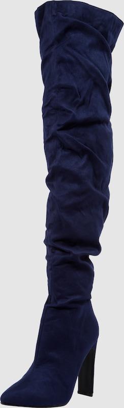 Lost Ink Stiefel 'STEVIE SLOUCHY SET BACK HEEL Textil Billige Herren- und Damenschuhe