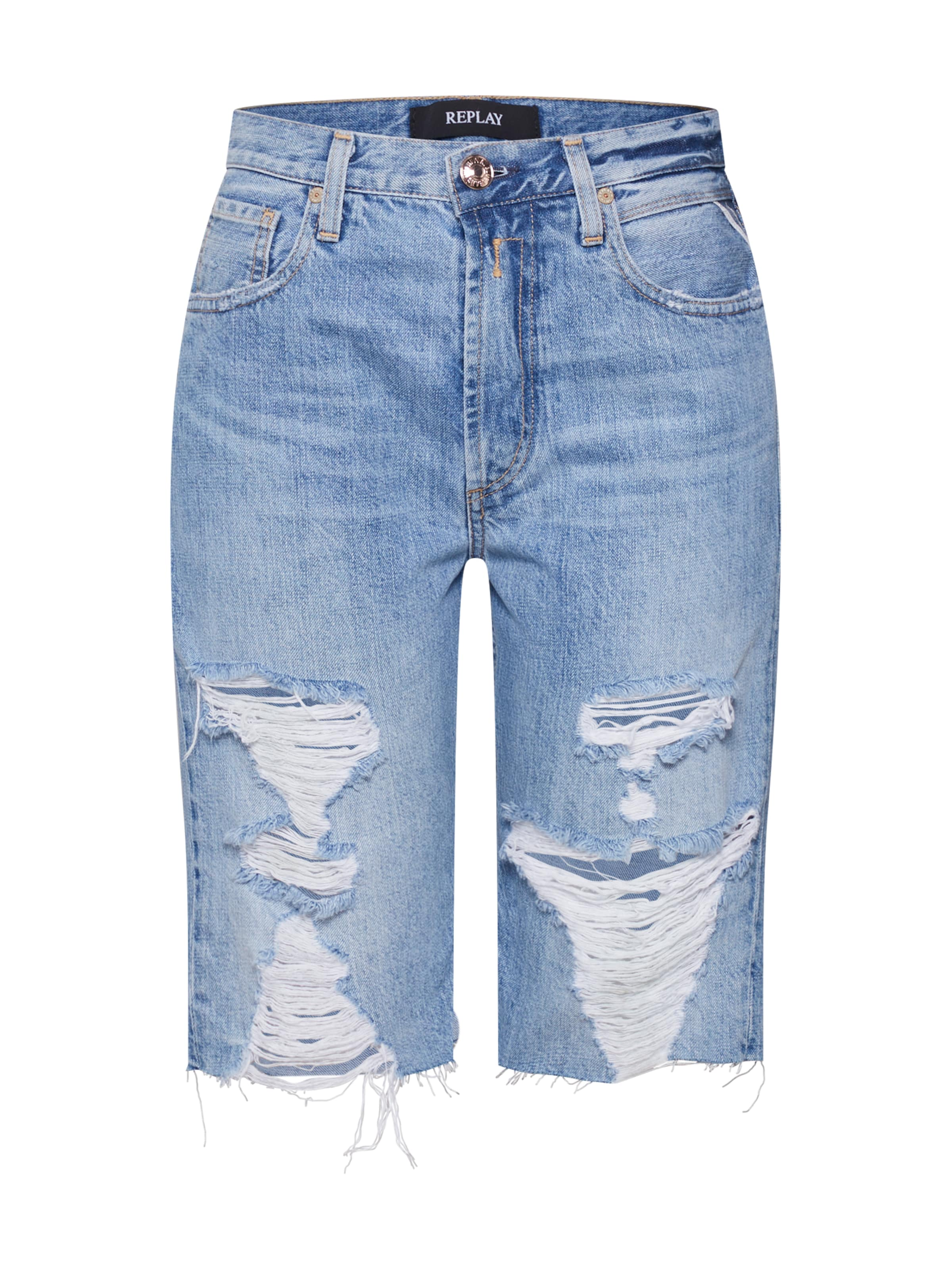 REPLAY Shorts in blue denim
