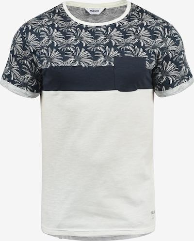 !Solid Rundhalsshirt 'Florian' in dunkelblau / weiß, Produktansicht