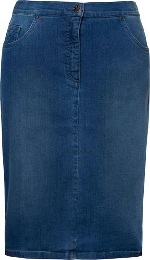 Ulla Popken Jupe en bleu denim, Vue avec produit