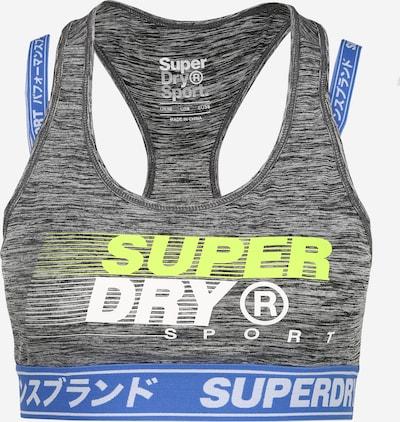 Superdry Sportovní podprsenka - modrá / šedý melír / limetková, Produkt