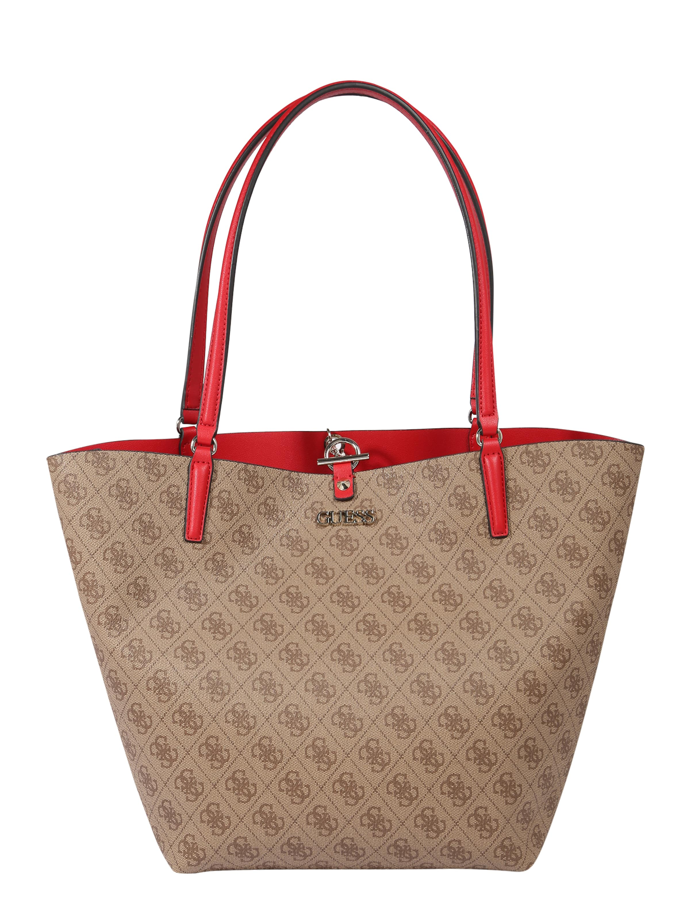 GUESS Shopper 'Alby' in braun / rot