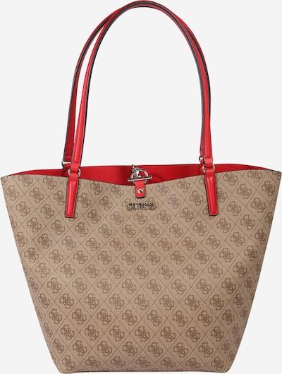 GUESS Shopper 'Alby' in braun / rot, Produktansicht