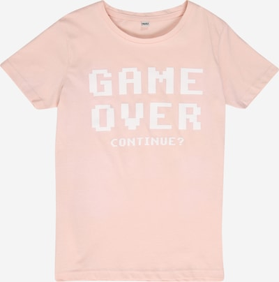 Mister Tee Shirt 'Game Over' in pastellpink / weiß: Frontalansicht