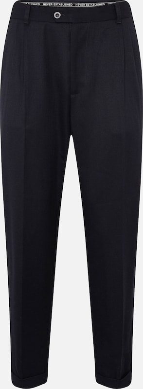 Pleated' Bleu Marine Pince 'tailored Pantalon Review En À 1TlJuF3Kc