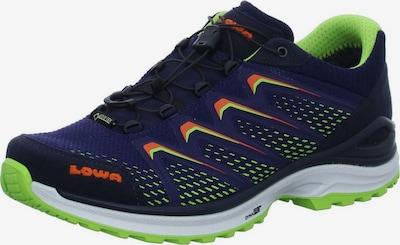 LOWA Sportschoen in de kleur Donkerblauw / Neongroen / Neonoranje, Productweergave