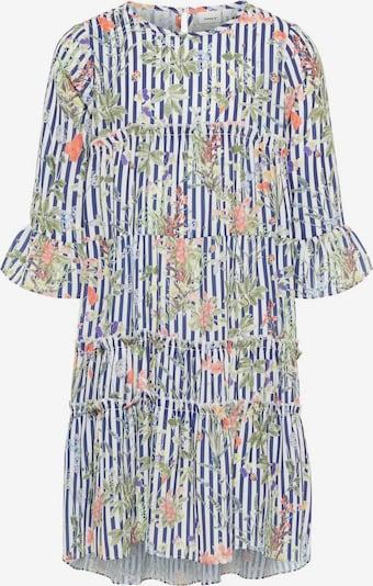 NAME IT Kleid in blau / pastellgrün / dunkellila / koralle / orangerot / weiß, Produktansicht