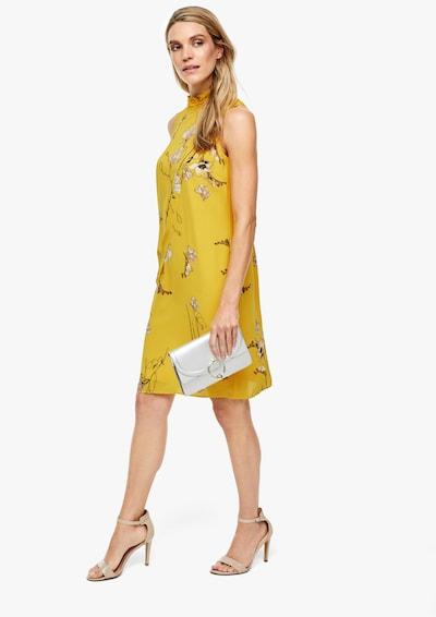 s.Oliver BLACK LABEL Kleid in gelb / mischfarben | ABOUT YOU