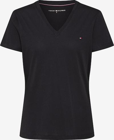 TOMMY HILFIGER Shirt 'HERITAGE V-NECK TEE' in de kleur Zwart, Productweergave