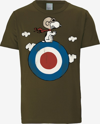 "LOGOSHIRT T-Shirt ""Snoopy"" in blau / oliv / rot / weiß, Produktansicht"