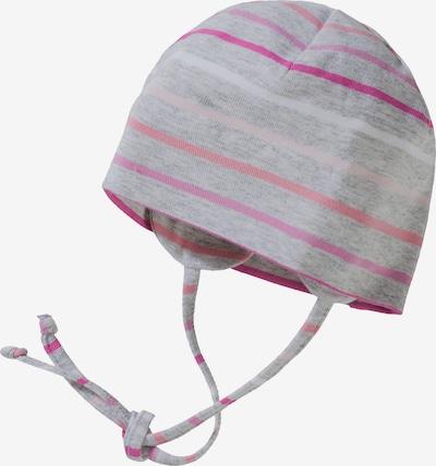 STERNTALER Mütze in grau / rosa / hellpink / weiß, Produktansicht