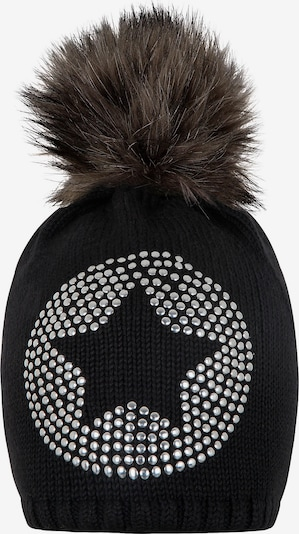 TICKET TO HEAVEN Bommelmütze in schwarz / silber, Produktansicht