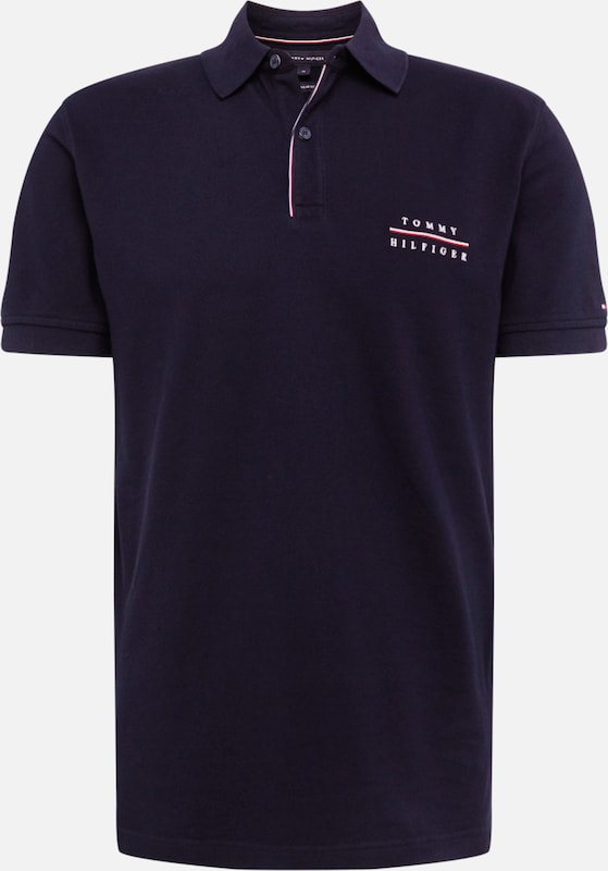 TOMMY HILFIGER Polo 'LOGO EMBROIDERY REGULAR POLO' in dunkelblau: Frontalansicht