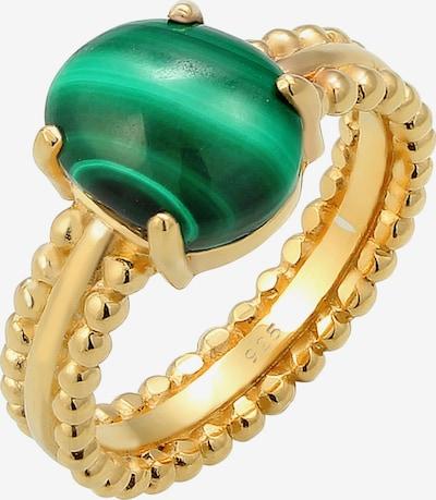 ELLI PREMIUM Ring Cocktailring, Edel in gold / dunkelgrün, Produktansicht