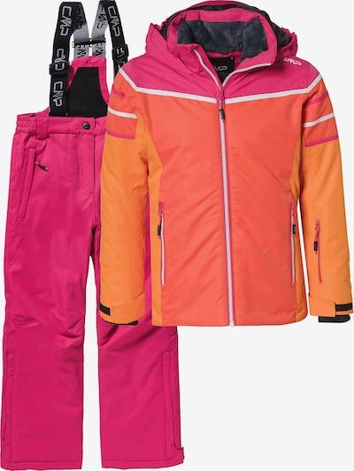 CMP Skiset in dunkelorange / pink / weiß, Produktansicht
