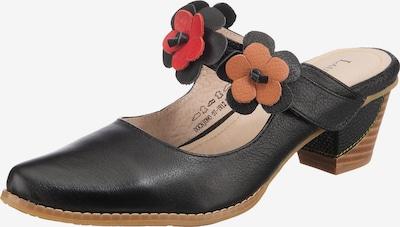 Laura Vita Pantolette 'Docnjono' in orange / rot / schwarz, Produktansicht
