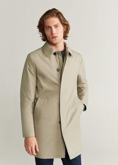 MANGO MAN Mantel in beige, Modelansicht